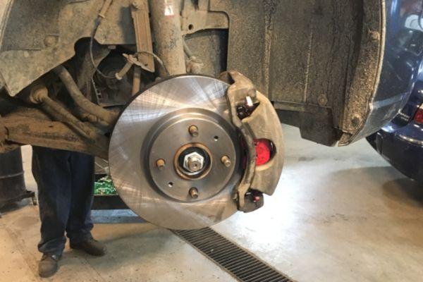 2010 Ford Focus disc brake service in Lansing MI