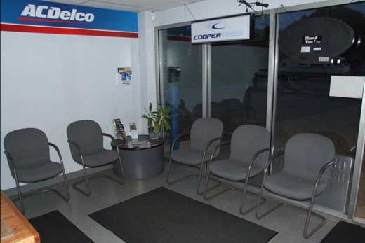 Chuck's Garage Lansing MI auto repair shop customer waiting area